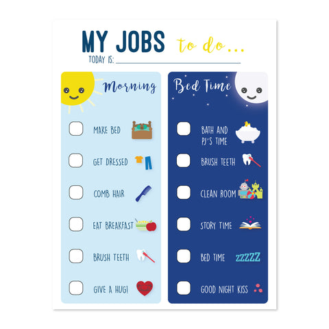 Routine Chart, My Jobs To Do