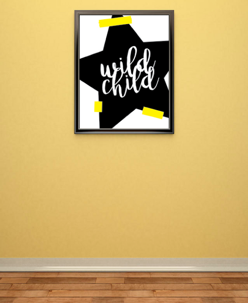 Print or Canvas, Wild Child, Whimsical Art