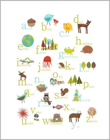 Multi Language Alphabet 11x14 Canvas or Print, ABC, Educational, Playroom Decor