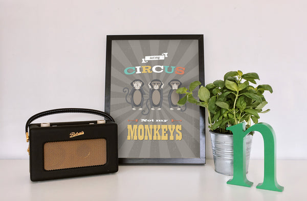 Not my Circus, Not my Monkeys, Whimsical Art