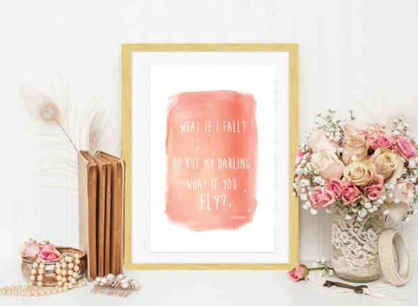 What If You Fly in Pink Wall Art Print