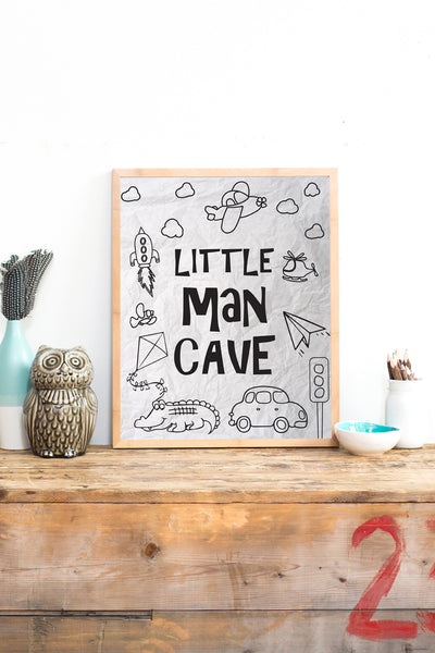 Canvas or Print, Little Man Cave
