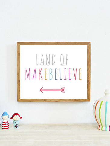 Land of Makebelieve Wall Art Print