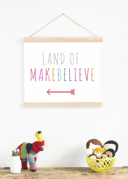 Land of Makebelieve Art for Home Print