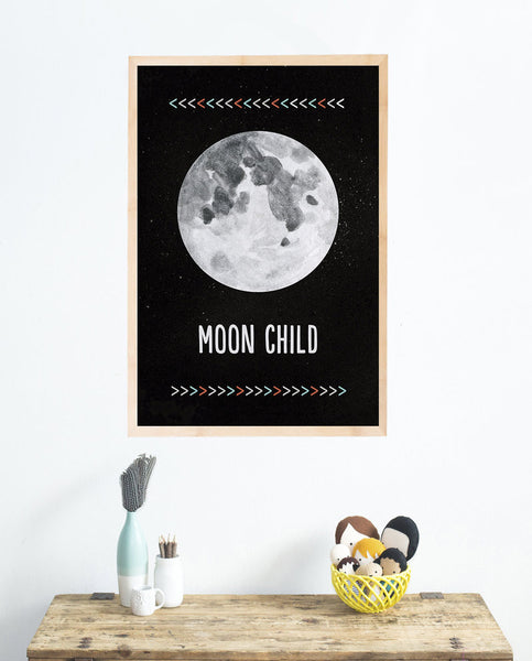 Moon Child Wall Art Print