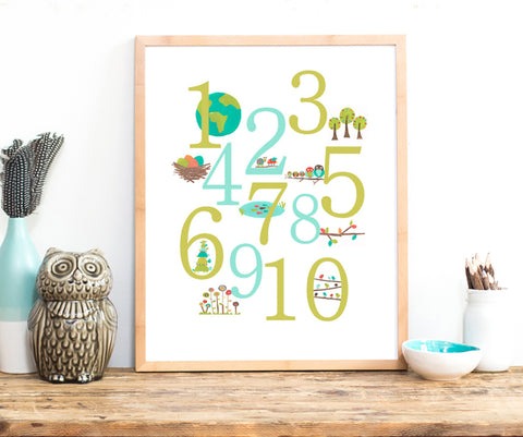 Nature Number Digital Download Printable