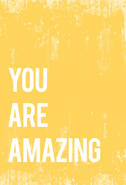 You Are Amazing Inspirational Print or Canvas, Playroom Nursery Decor