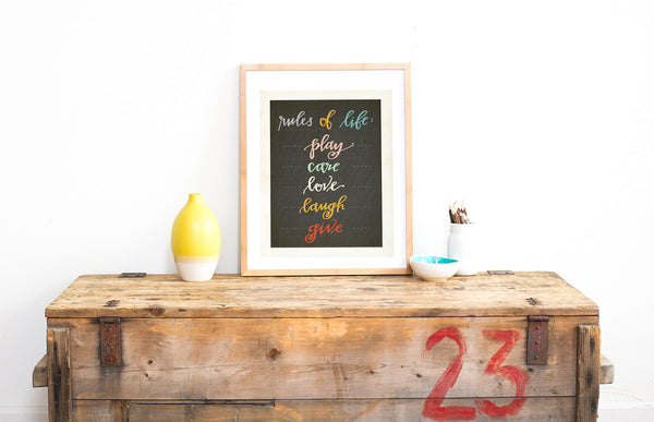 Rules of Life Digital Download Printable