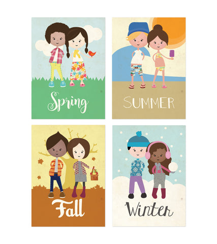 Mini Collection All Seasons, Set Of 4 5x7 Paper Prints