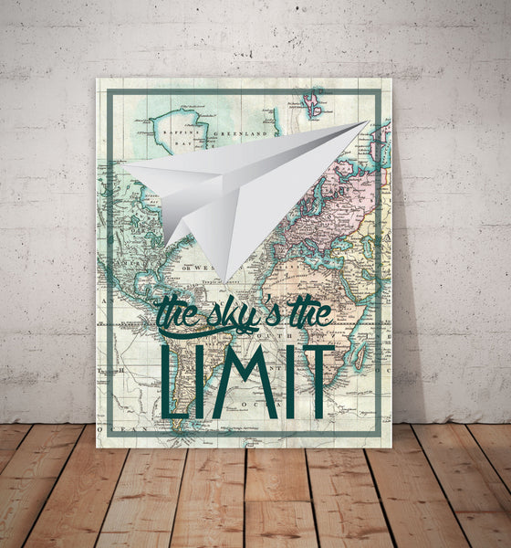 Print or Canvas, The Sky Is The Limit Print