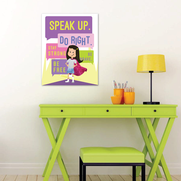 Canvas or Print, Speak Up Do Right, Supergirl