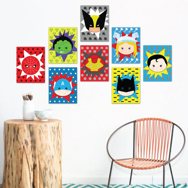 Super Heroes Wall Cards