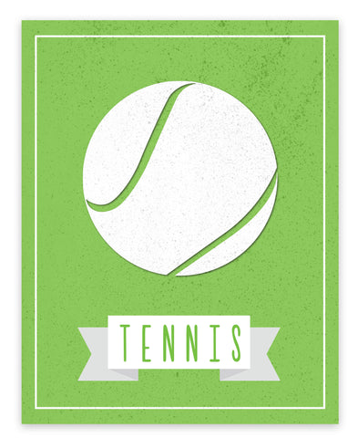 Canvas or Print, Sport Balls: Tennis, Pick Your Own Color!
