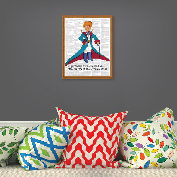 Print or Canvas, Little Prince Upcycled Like Art - Prince