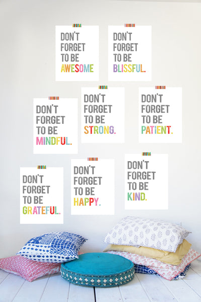 Don't Forget to be Wall Art Print Collection
