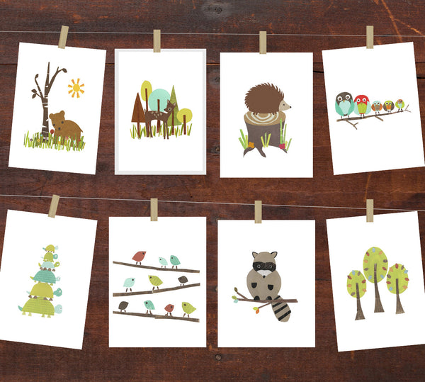 Forest Animal DIY Wall Art Collection