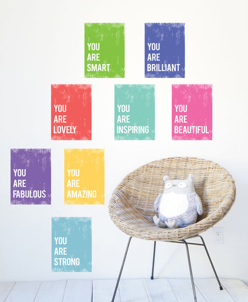You Are Mini Collection - Set of Eight 5 x 7 Wall Cards