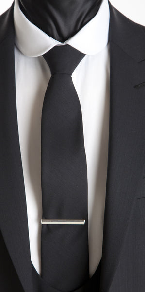 Black Harrogate Tie - Black Mohair and Wool Neckwear