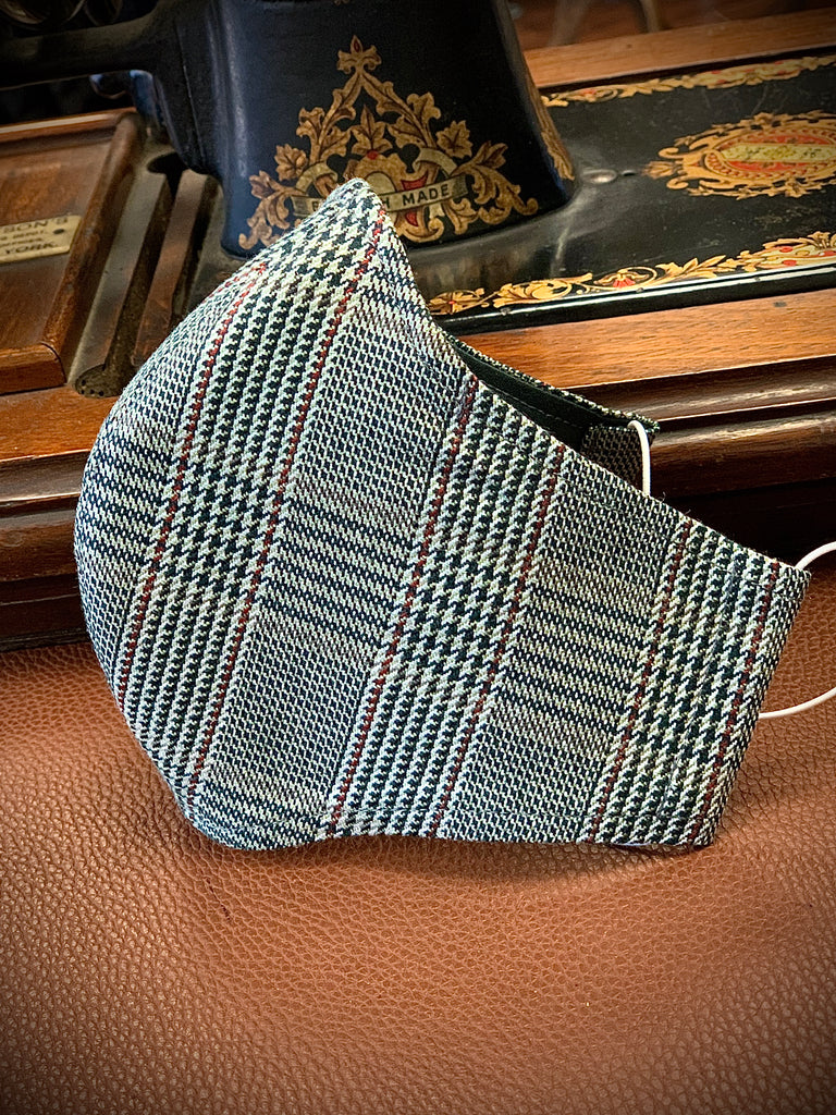 Gentleman's Face Covering (Face Masks) - Silk and Wool Prince of Wales Check