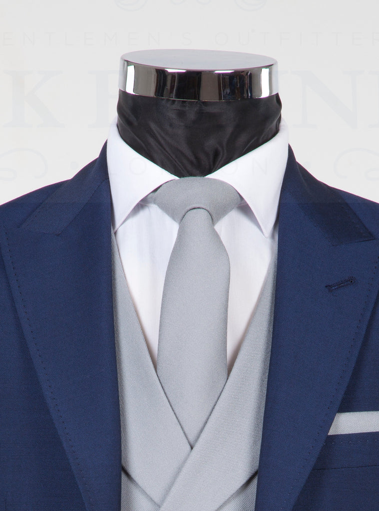 Wool Dove Grey Tie - Grey Pure Wool Neckwear