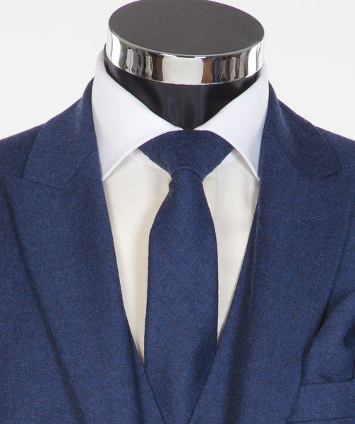 Blue Newbury Tie - Blue Flannel Wool Neckwear