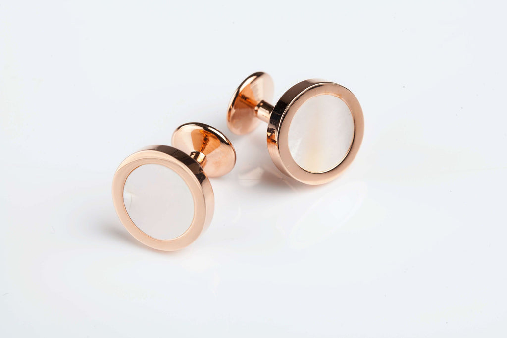 Jack Bunney - Rose Gold Plate  - Luxury Mother of Pearl Cufflinks