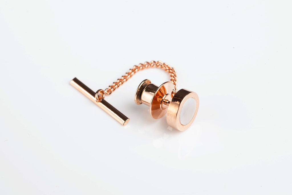 Jack Bunney - Rose Gold Plate - Luxury Mother of Pearl Tie Pin