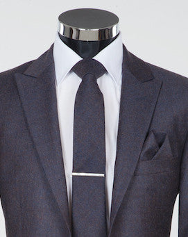 Grey Newbury Tie - Grey Flannel Wool Neckwear