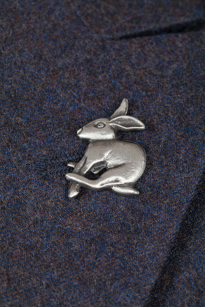Pewter Lapel Pin / Tie Pin - Hare
