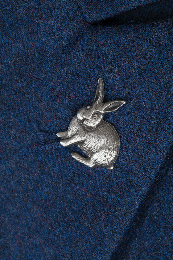 Pewter Lapel Pin / Tie Pin - Rabbit