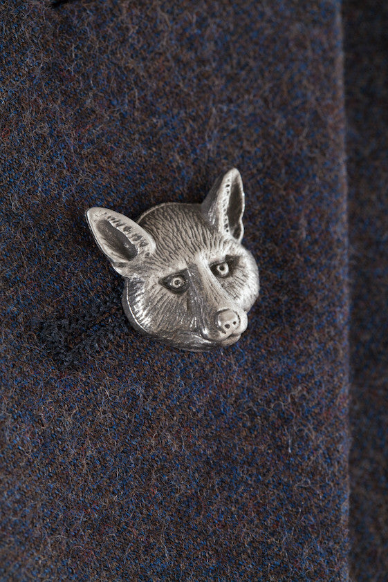 Pewter Lapel Pin / Tie Pin - Fox