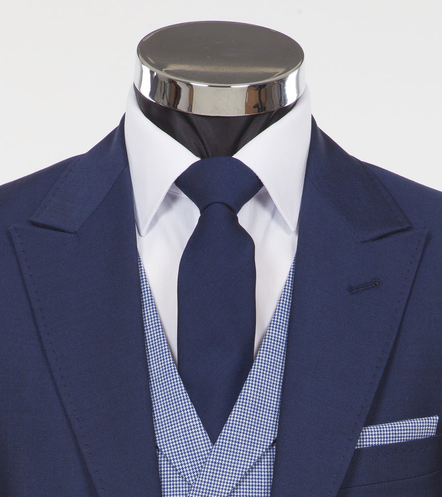 Blue York Tie - Blue Mohair and Wool Neckwear