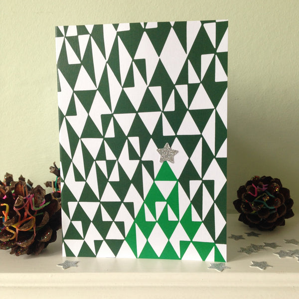 'Twinkle, twinkle little star' Christmas tree inspired Christmas Card