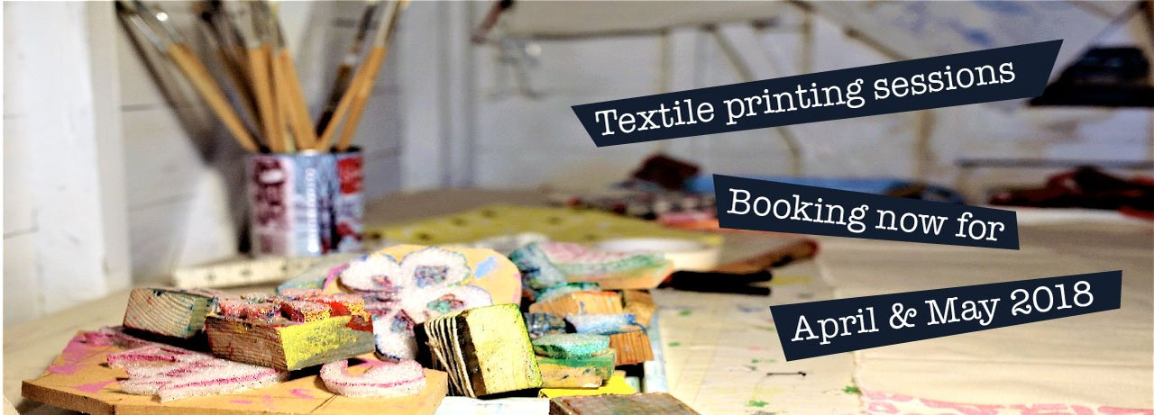 Ailsa Wilson Purbeck Artisan Yard textile printing classes