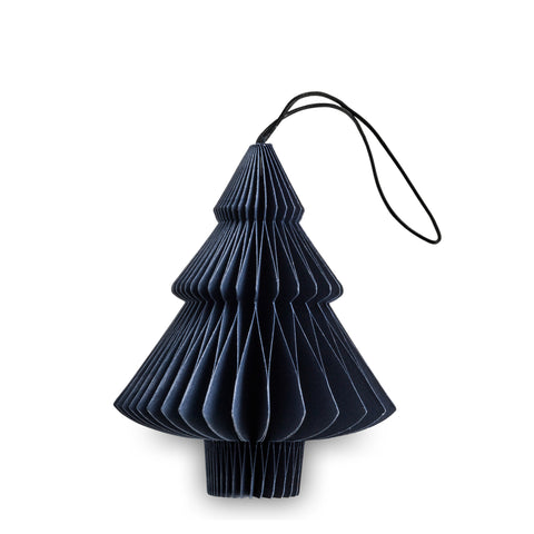 julepynt papir nordstjerne - midnight blue paper ornament