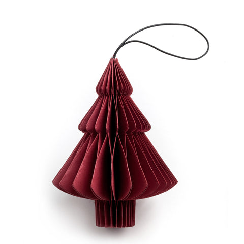 nordstjerne red paper tree christmas ornament