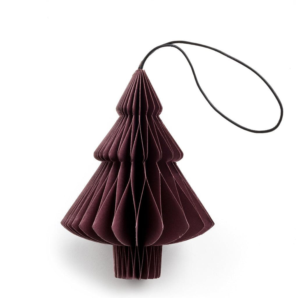 nordstjerne dark red paper tree christmas ornament