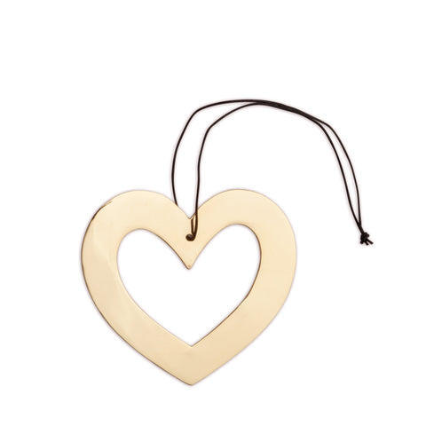 nordstjerne brass heart christmas ornament