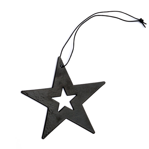 nordstjerne black metal star christmas ornament