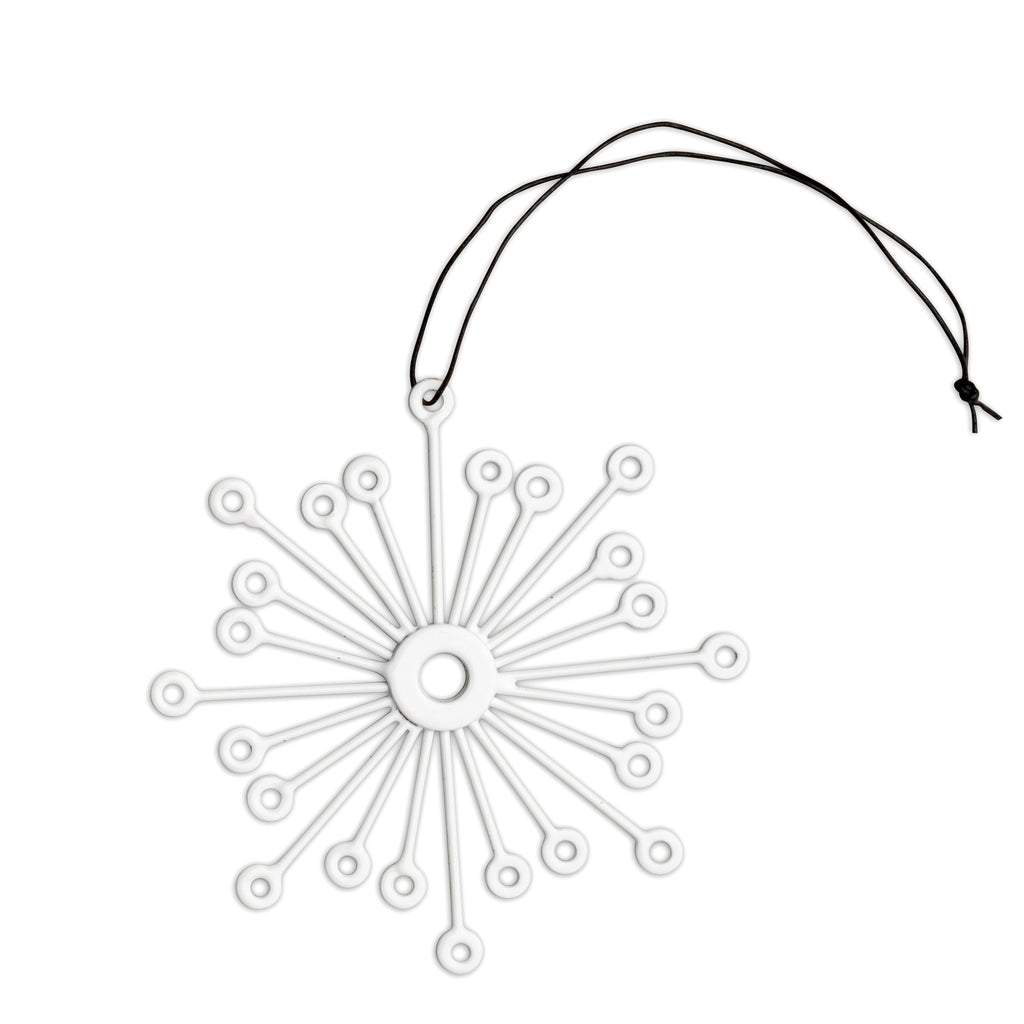 nordstjerne white metal snowflake christmas ornament