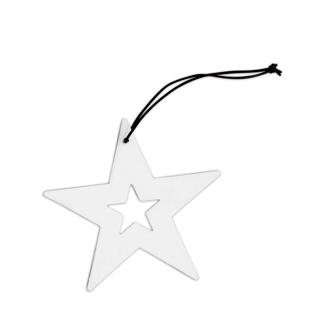 nordstjerne white metal star christmas ornament
