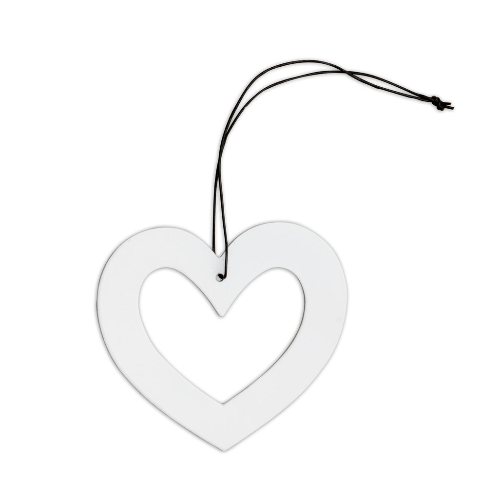 nordstjerne white metal heart christmas ornament