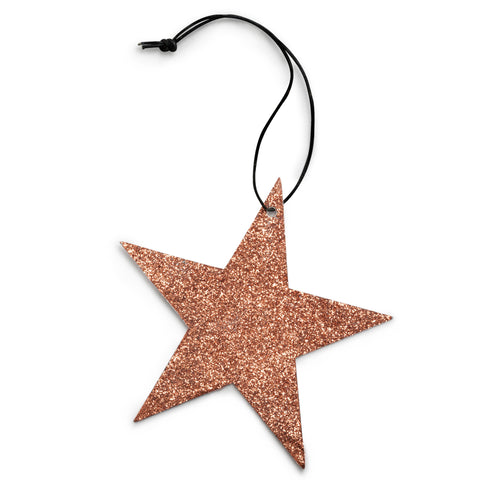5 point cobber star glitter ornament nordstjerne