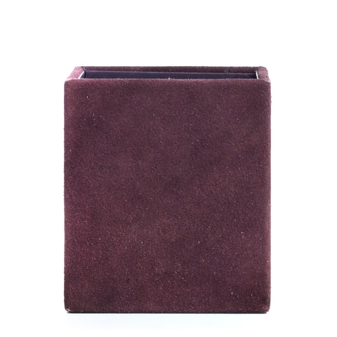 Nordstjerne suede pencil holder, aubergine
