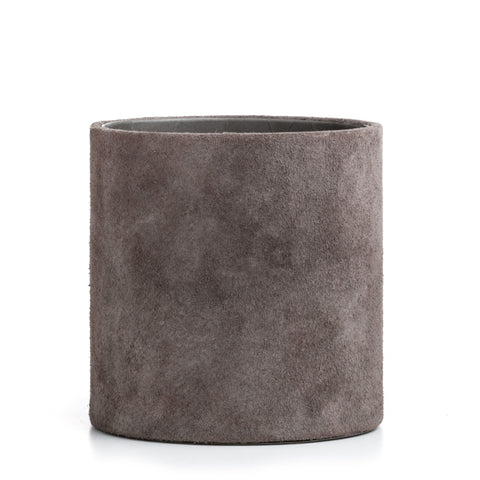 suede pencil holder