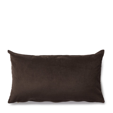 corduroy cushion, chocolate