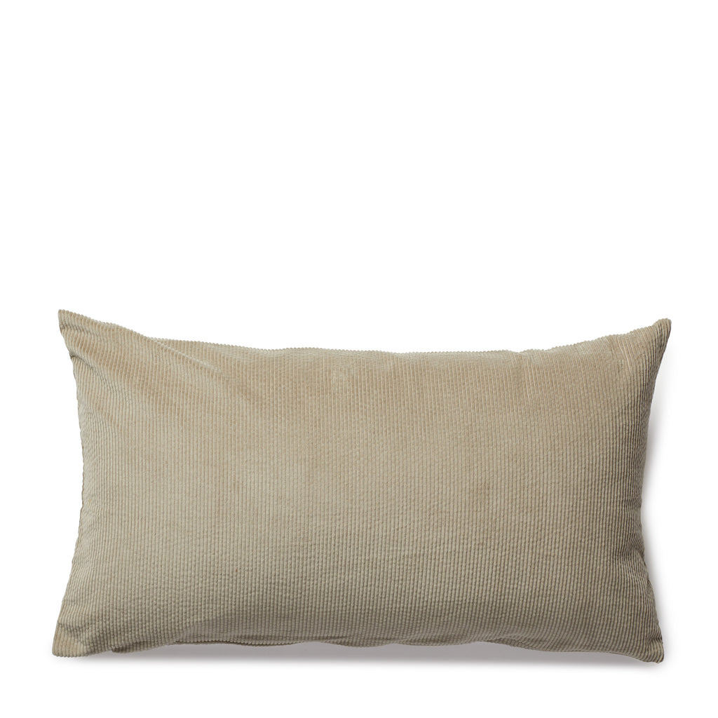 corduroy cushion, nude grey