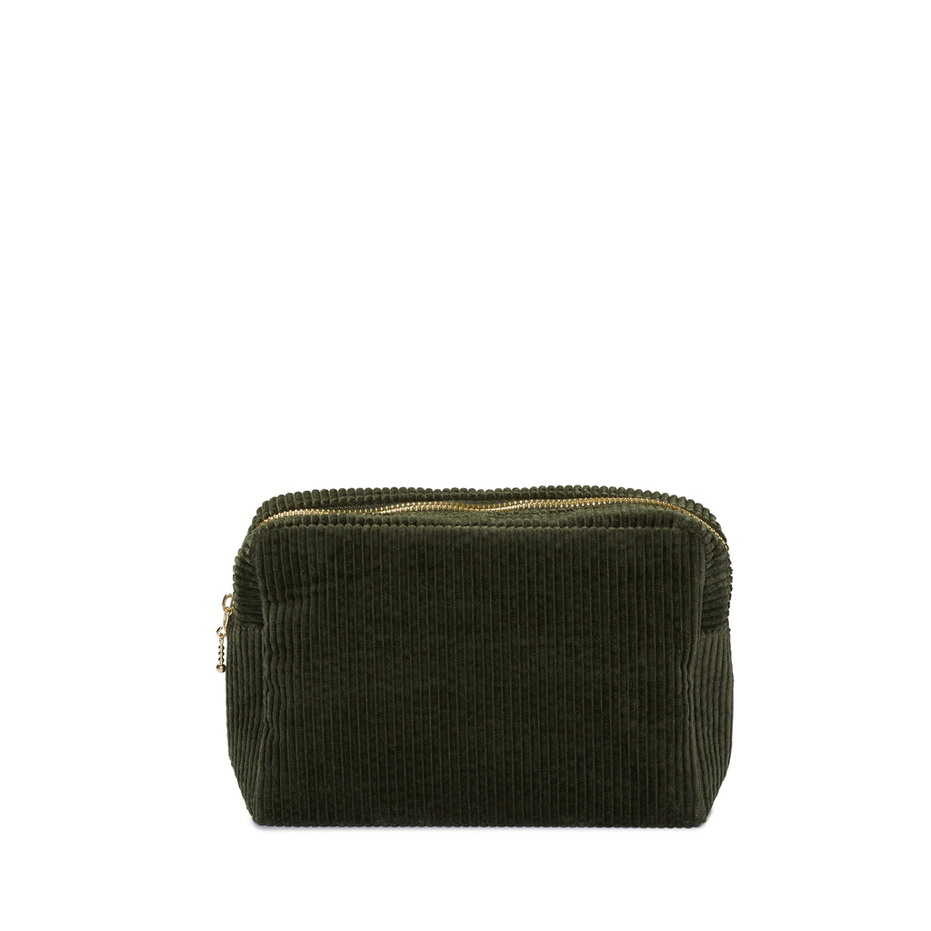 corduroy small pouch, green tea