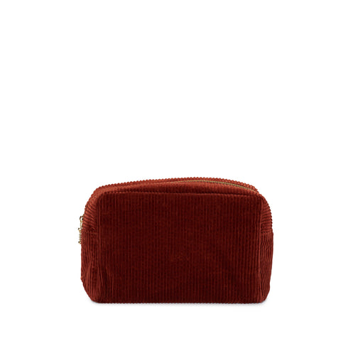 corduroy small pouch, rust