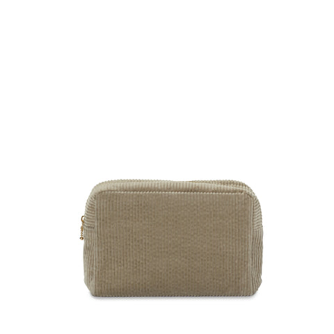corduroy small pouch, nude grey